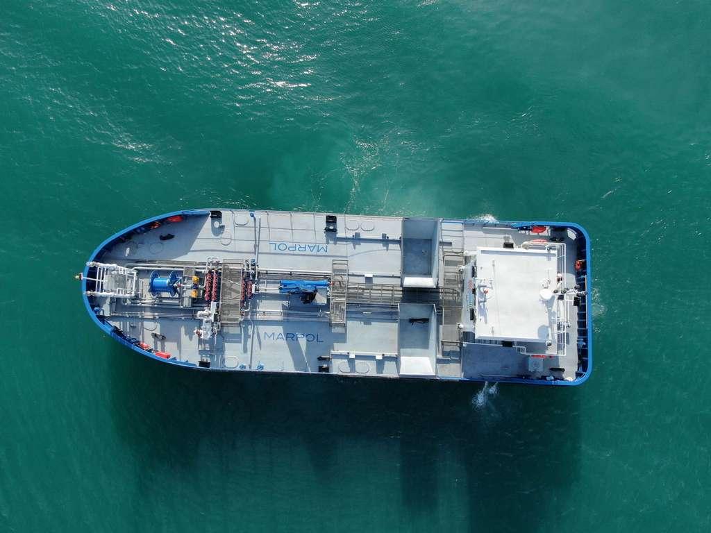 Oil Tanker aerial view
