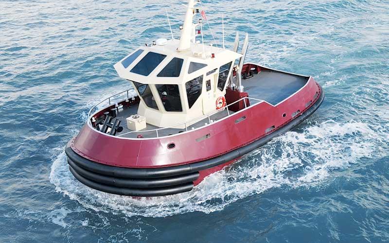Tugboat for port use