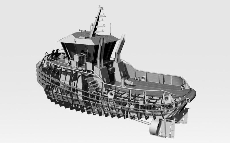 Naval ship 3D